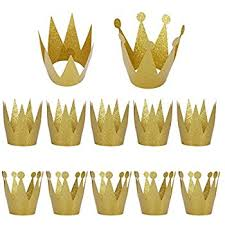 dozen miniature gold and silver crowns with