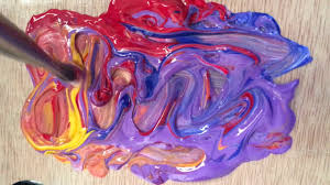 color swirls mixing paint youtube