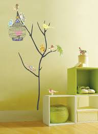amazon com birds in tree repositional wall decal baby