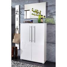 modern white high gloss germania inside shoe cabinet tall slim