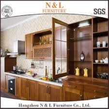 oak kitchen furniture china 2016 new modular design white oak solid wood kitchen