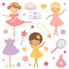 a cute collection of little dancing ballerinas royalty free