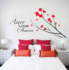 give a touch of creativity to your home with the wall stickers beautiful way to decorate a bedroom with the wall stickers