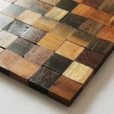 wall backsplash natural wood mosaic tile rustic wood wall tiles nwmt001 kitchen
