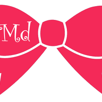 bow monogram 5 bow monogram decal the forgotten treasure online store