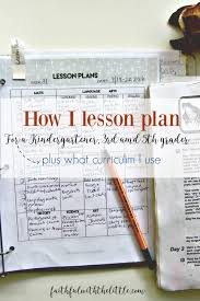 faithful with the little how i lesson plan for a kindergartener