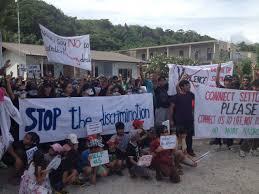 hundreds of refugees protest on nauru refugee action coalition