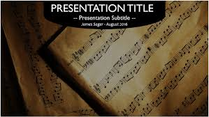 music notes powerpoint template 10469 free powerpoint music