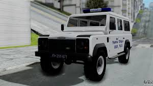 original land rover defender land rover defender serbian border police for gta san andreas