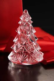 waterford medium christmas tree sculpture clear