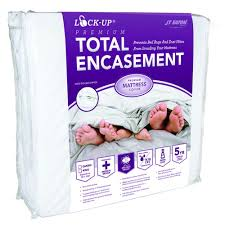 bed bug mattress and box spring encasements jt eaton lock up total encasement bed bug protection for king size