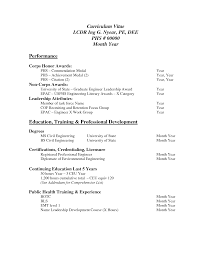 cv profile example graduate
