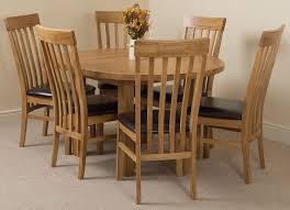 Dining Room Furniture Edmonton Edmonton Solid Oak Extending Oval Dining Table With 6 Harvard