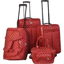 amazon com american flyer luggage signature 4 piece set brown