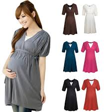 maternity dresses clothes for women casual v neck