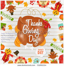 thanksgiving day card frame roasted stock vector 512891314