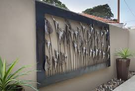 wall design ideas contemporary large outdoor metal wall