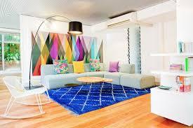 canapé original coloré idée déco salle à manger salon pour tous les goûts