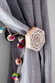 Curtain Holdback Ideas Brown Curtain Best Grey Tiebacks Ideas On Pinterest Trim Tie Backs