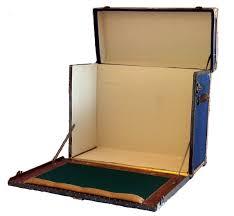 vintage campaign desk trunk c 1915 omero home