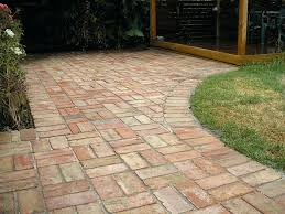 Brick Patio Pattern Patio Ideas Basketweave Pattern With Curve And Brick Border