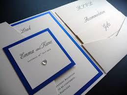 wedding invitations royal blue pocketfold wedding invitation with a plaque and a royal blue