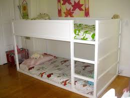 ikea kids loft bed painted white love how low to the floor the