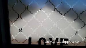 window treatment under 10 faux frosted glass tutorial moroccan