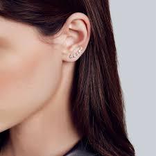 earing model mini cinderella ear cuff carbon hyde