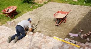 Installing A Patio With Pavers How To Install Pavers Veneer Pavers