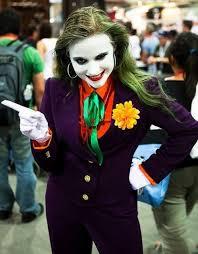 Joker Nurse Halloween Costume 2014 Halloween Pale Female Joker Face Makeup Costume Clown