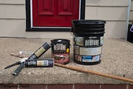 applying rust oleum restore deck and concrete to my front steps