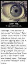 Kitchen Sink Twenty One Pilots by Kitchen Sink 21 Pilots