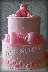 pink bear baby shower cake j a m cakery