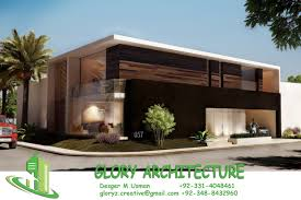 3d Front Elevation Com 8 Marla House Plan Layout Elevation by Glory Architecture