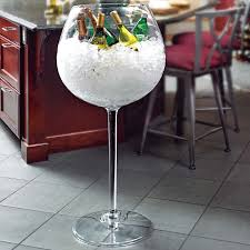 giant wine cooler giant wine glass wine and glass