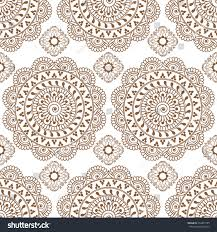 seamless brown henna background mehndi floral stock illustration