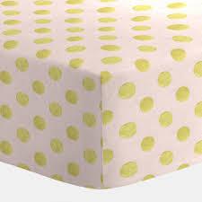 pale pink and gold dot crib sheet carousel designs
