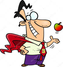 cartoon super teacher u2014 stock vector ronleishman 14003593