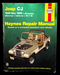 jeep repair manual haynes manual