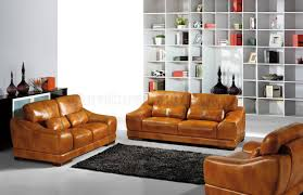 Yellow Leather Sofa by Furniture Yellow Full Grain Leather Sofa With Black Furry Rug And