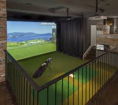 Home Golf Simulator by Edina House Was Engineered To Make The Best Of Winter