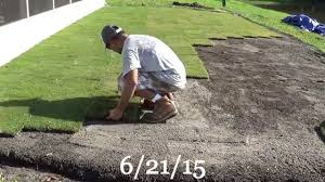 Backyard Putting Green Installation by Diy Backyard Putting Green Youtube