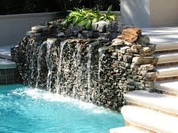 small water garden designs with bamboo fountain and natural stone