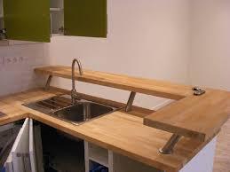 cuisine plan de travail bois massif plan de travail cuisine bois le plan de travail en bois massif
