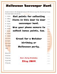 halloween door to door scavenger hunt printable instant