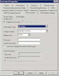 reset microsoft online services password messageops mso manager messageops