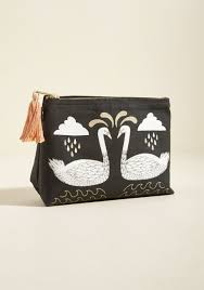 makeup bag swan for the books makeup bag modcloth