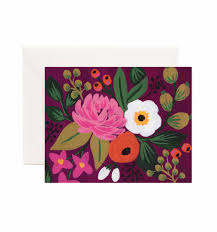 burgundy blossoms greeting card by rifle paper co made in usa