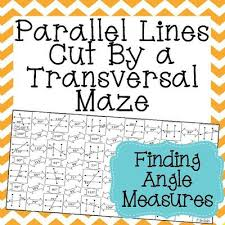 parallel lines cut by a transversal maze finding angle measures